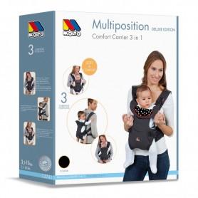 Marsupiu pentru copii multipozitional 3 in 1 Molto 12741 negru