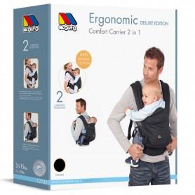 Marsupiu ergonomic pentru copii 2 in 1 Molto 12742 negru