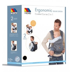 Marsupiu ergonomic pentru copii 2 in 1 Molto 17748 gri