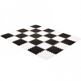 Covoras-puzzle KinderKraft Luno alb-negru