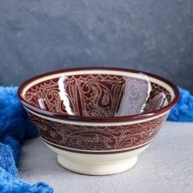 Миска керамическая 0,5л коричневая