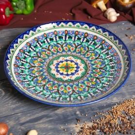 Farfurie din ceramica pictata manual Lyagan Rishtan 32cm
