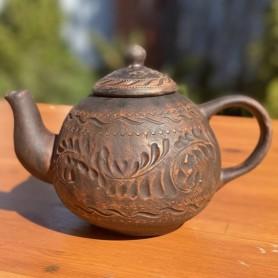 Ceainic din argila rosie 1L