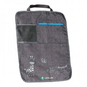 Защита спинки автокресла с карманами LittleLife L16110 56.5x43x0.5см