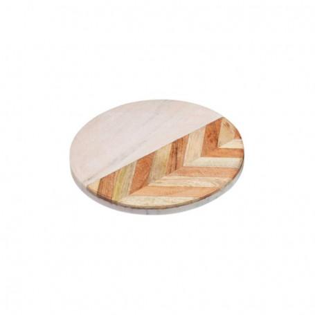 Tocator din lemn de mango KitchenCraft Round Prep & Serve Marble Serenity KCSERVCHEVBD20 20cm