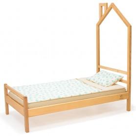 Детская кровать BabyTime Паровозик, цвет натуральный