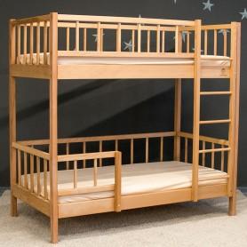 Детская двухъярусная кровать BabyTime Twins 160x80см, цвет натуральный