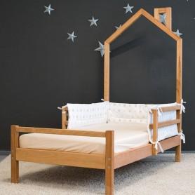Pat pentru copii BabyTime Trenut Plus 160x80cm, natural