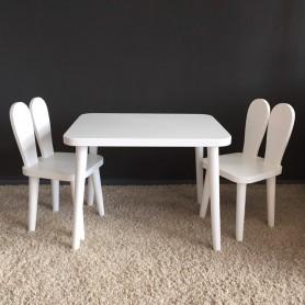 Набор стол и 2 стула BabyTime Кролик, цвет белый