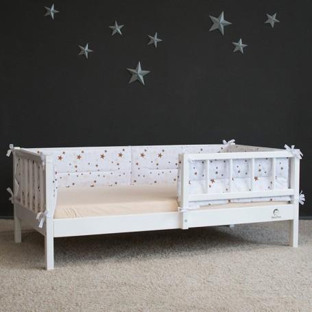 Pat pentru copii BabyTime Junior Plus 160x80cm, alb