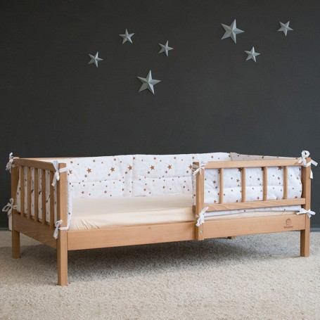 Pat pentru copii BabyTime Junior Plus 160x80cm, natural