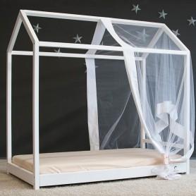 Детская кровать BabyTime MS 160x80см, цвет белый