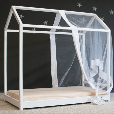 Pat pentru copii BabyTime MS 160x80cm, alb