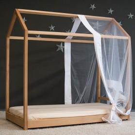 Детская кровать BabyTime MS 160x80см, цвет натуральный