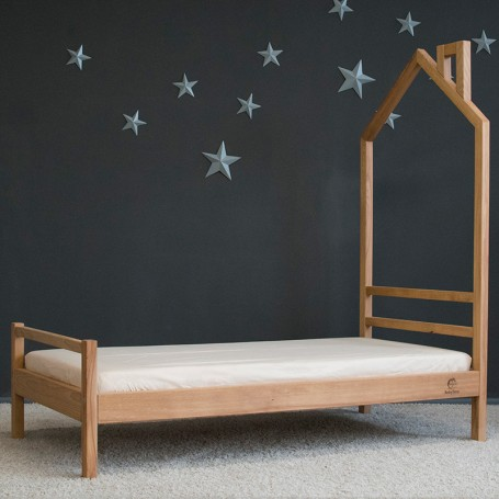 Pat pentru copii BabyTime Trenut 160x80cm, natural