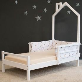 Pat pentru copii BabyTime Trenut Plus 160x80cm, alb