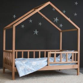 Детская кровать BabyTime Casuta Rustica 170x90см, цвет натуральный