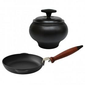 Набор чугунной посуды ЭМ Syton №.2 (3 предмета)