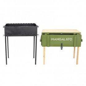 Мангал сборный металлический Mangal 570 в аренду