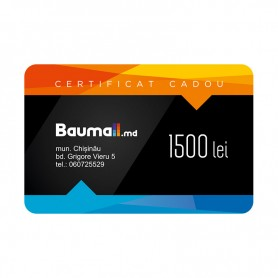 Certificat cadou Baumall 1500 lei + felicitare