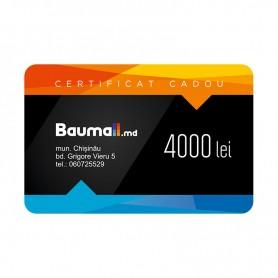 Certificat cadou Baumall 4000 lei + felicitare