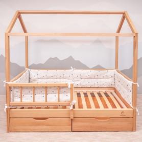 Бортики защитные BabyTime BD001 для кроватки 160х80см