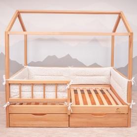Бортики защитные BabyTime BD002 для кроватки 160х80см