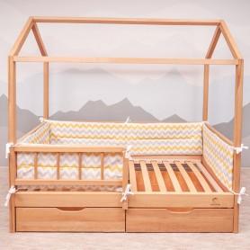 Borduri de protectie BabyTime BD003 pentru pat 160x80cm