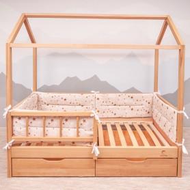 Бортики защитные BabyTime BD005 для кроватки 160х80см