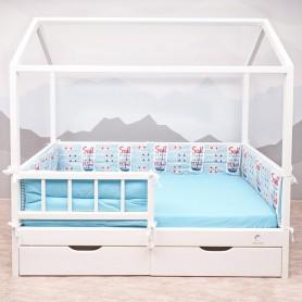 Бортики защитные BabyTime BD008 для кроватки 160х80см