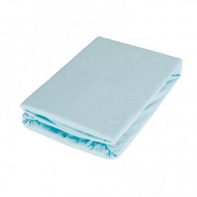 Cearsaf cu elastic BabyTime C003 160x80x25cm, albastru deschis