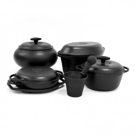 Набор чугунной посуды ЭМ Syton №.4 (8 предметов)