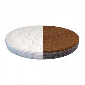 Матрас для круглой кроватки BabyTime кокос+флексовойлок 72х72х7см