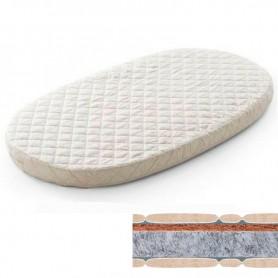 Saltea pentru pat oval BabyTime cocos+pasla 120x72x7cm