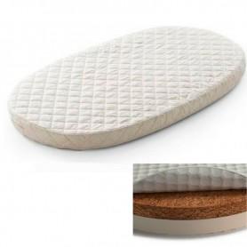 Saltea pentru pat oval BabyTime cocos+latex 120x72x5cm