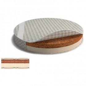 Saltea pentru pat rotund BabyTime cocos+latex 72x72x5cm