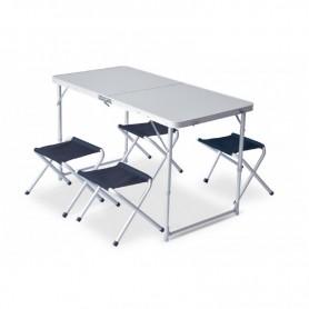 Set pliabil masa cu 4 scaune Pinguin, albastru 621006